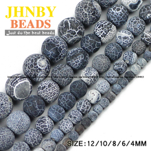 Buy JHNBY Black Weathered carnelian beads Natural Stone Top Round Loose beads ball 4/6/8/10/12MM Jewelry bracelet making DIY Store) for $2.49 in AliExpress store