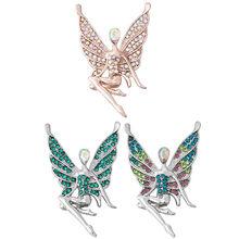 5 sztuk/partia nowy duży anioł dziewczyna przystawki biżuteria różowe złoto srebro piękny motyl 18mm zatrzaski przycisk Fit DIY bransoletka Snap dla kobiet(China)