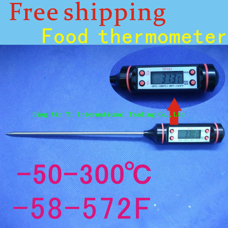 (5pieces/lot)Hot sell Digital food thermometer for meat/milk digital probe food thermometer kitchen with stainless steel probe(China (Mainland))