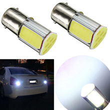 Super Bright P21W 4 Sides COB 1156 BA15S DC12V High Power Car Turn Signal Lights Reverse Lamps Backup Tail Lighting - Auto Home INC store