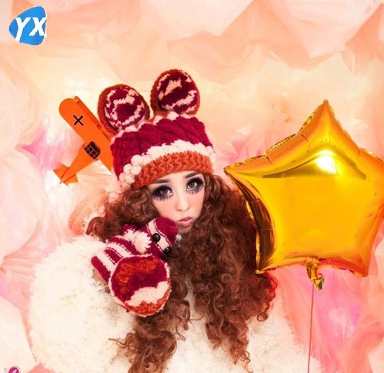 Hot Sale YUXI 2015 New Fashion Chapeu Feminino Toca Hats For Women Beanie Touca Winter Wool Winter Hat Gorros Bonnet Knitted(China (Mainland))