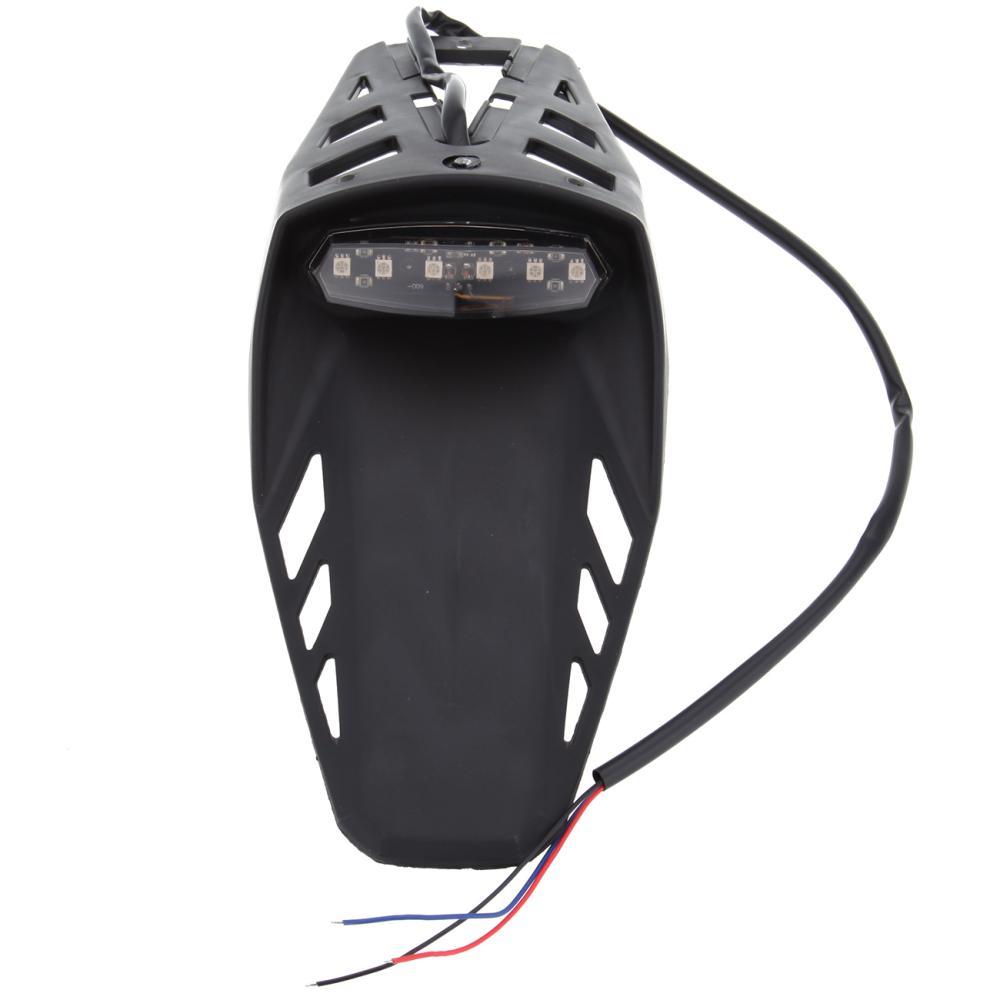Dirt Bike Motorcycle Rear Fender Recreation Rec LED stop/tail plate light lamp Taillight Brake Light