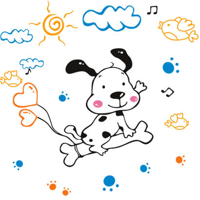 The third generation wall stickers cartoon child real waterproof wall stickers