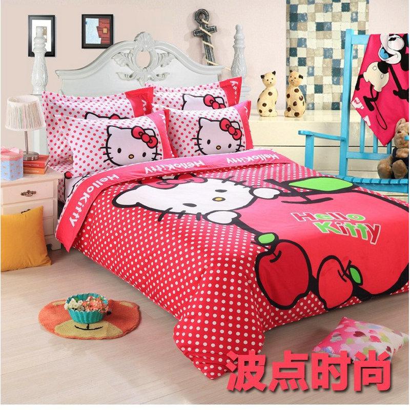 wave point 3 4pc hello kitty bedding set full queen king kawayi