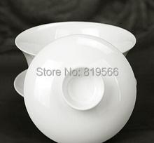 Hot Chinese Kung Fu Ceramic Gaiwan White Porcelain Tea Cup Bone China Set Drinkware Service