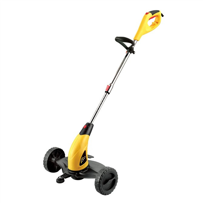 Small home lawnmower electric mower with wheels Trimming Lawn Mower(China (Mainland))