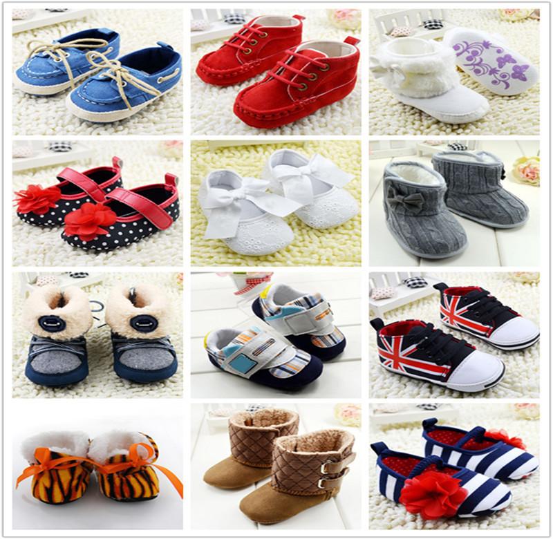 Baby Girls Boy Shoes Soft Sole Hot Sale Kids Toddler Infant Boots Prewalker First Walkers 29