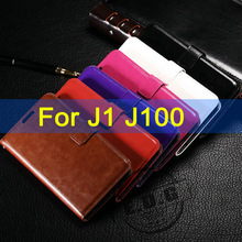 For Samsung Galaxy J1 J100F Flip Wallet PU leather Case Back Cover Card Holder Mobile Phone Bag free shipping