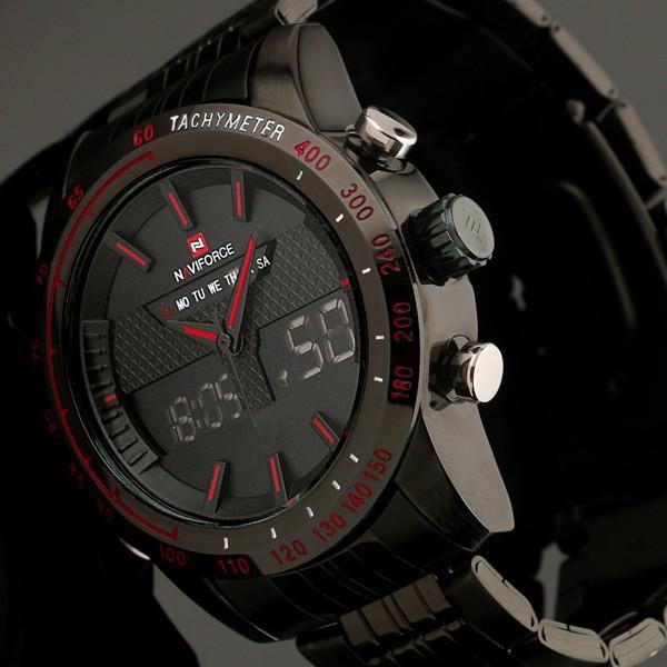 Digital LED Watch Men Sports Watch Luxury Brand full steel Fashion Quartz Movement Men Military Wristwatch Men's Watches Relogio(China (Mainland))