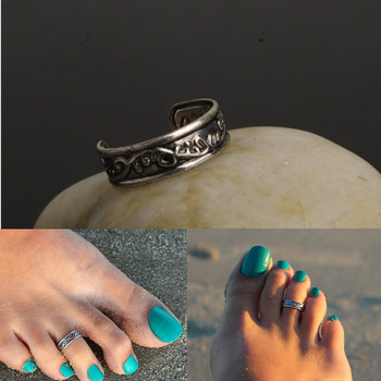 Sexy Celebrity Fashion Simple design Totem Toe Ring summer sand beach foot ring jewelry free size R89