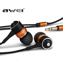 AWEI ES Q3 High quality 3.5mm Jack Noise Isolation Headphone In-ear Style Earphone for MP3/MP4 Players
