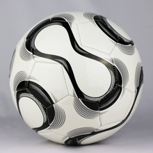 Wear-resistant Classic White Training Balls Football Official Size 5 High Quality PU Soccer Ball with Ballpump