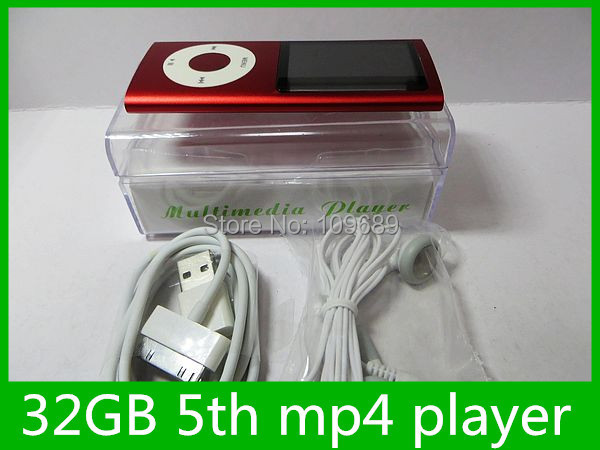 5th Gen mp4 player 32GB Portable digital camera mp3 mp4 Player with earphone, USB cable retail box,1pcs promotion(China (Mainland))
