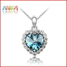 HIGH Quality Free shipping mix wholesale perfect package Allergy free Platinum plating crystal necklace sets #80975(China (Mainland))