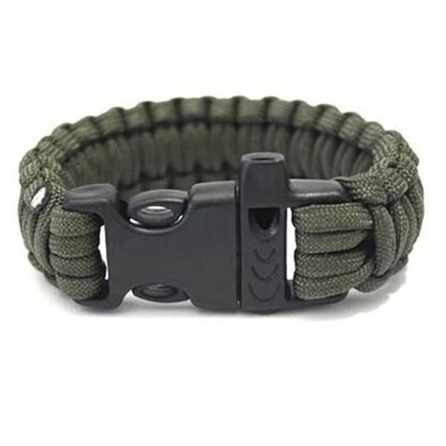 EDC Survival Gear Paracord Bracelet Whistle Kits