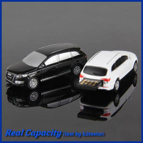 Retail usb stick 4gb 8gb 16gb 32gb car shape pen drive metal pendrive audi usb flash drive free shipping(China (Mainland))
