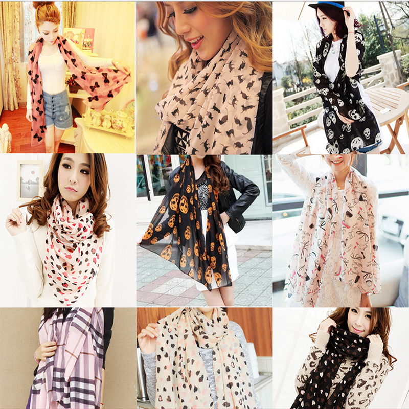 2015 Design Women Lady Fashion Long Stole Soft all match Chiffon Summer Scarf Shawl Wraps Scarves