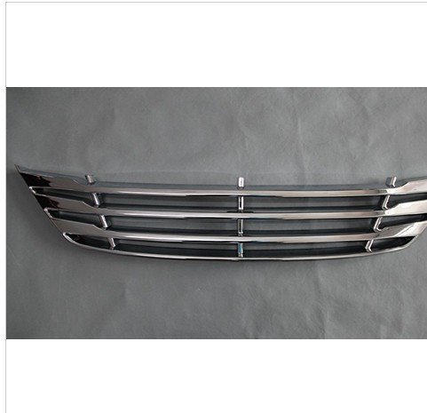 Фотография Free shipping 2009-2012 Hyundai ix35 ABS Chrome Front Grille Around Trim Racing Grills Trim