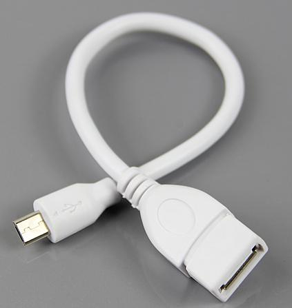 """S105""""Free Shipping 10pcs/lor USB 2.0 Female to Micro B Male Converter OTG Adapter Extension Cable White(China (Mainland))"""