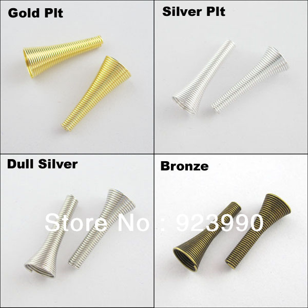 Free Shipping 20Pcs Long Speaker Tube Connectors Beads Caps 10x25mm Gold Silver Bronze etc.For Jewelry Making Craft DIY(China (Mainland))