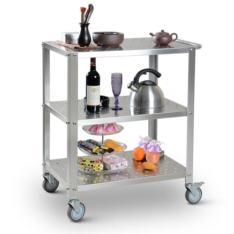 3 shelf kitchen storage utility cart on wheels household metal small trolley