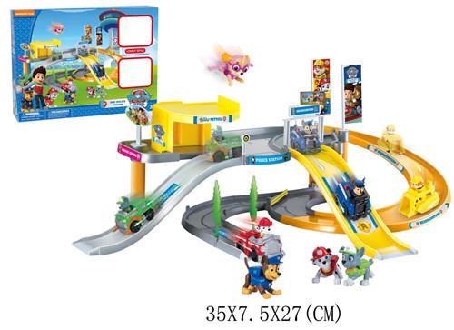 Гаджет  DIY Toy Educational Police Station Scene Parking Juguetes PATROL Toy Car Dog Anime Figure Minifigures Patrulla Canina Toys Model None Игрушки и Хобби