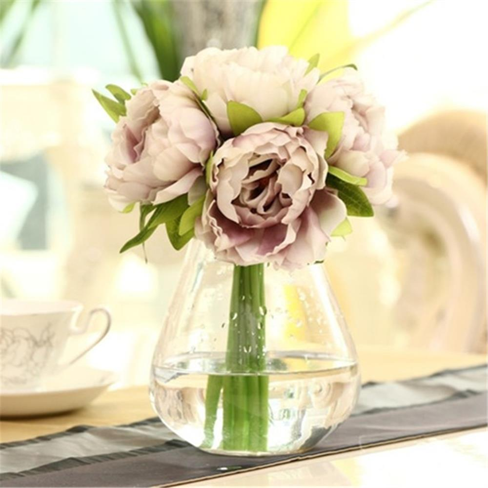 Buy european style 5 heads bouquet peony for Angela florist decoration