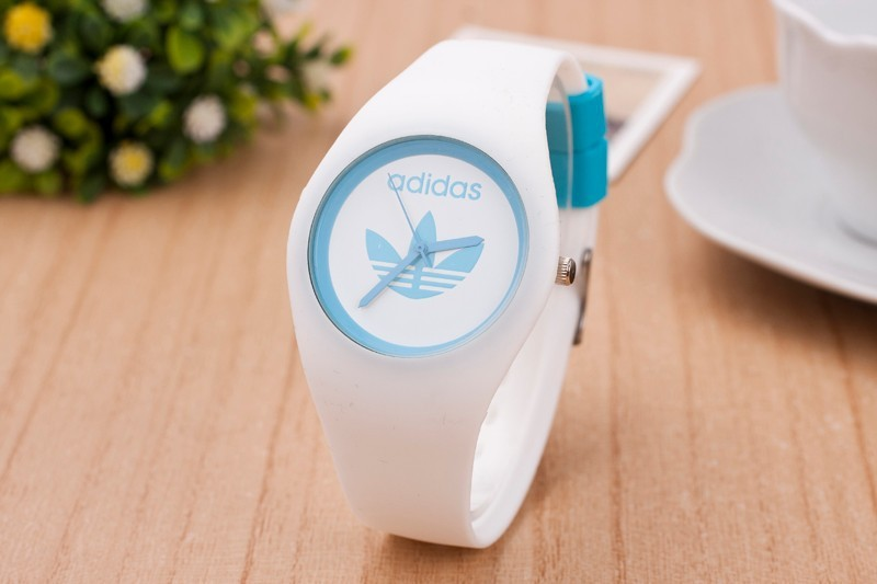 HOT famous brand fashion 3 Leaf Grass Candy colors silicone watches men sport quartz watch women