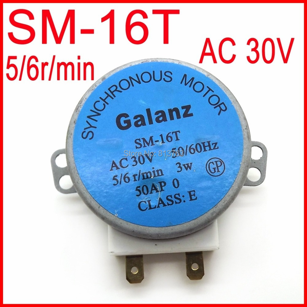 Гаджет  SM-16T Microwave Turntable Turn Table Motor Synchronous Motor SM16T AC30V for Galanz Microwave None Бытовая техника