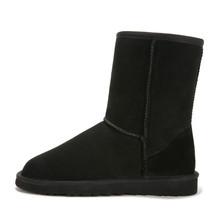 Alta calidad! 2015 Australia reloj mujeres botas piel de oveja de piel botas de nieve de lana de mujer zapatos lindos nieve del invierno botas tamaño : 5-12(China (Mainland))