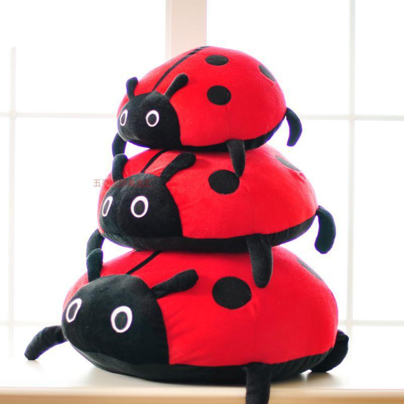 stuffed animal plush 55x55cm insect spot ladybird plush toy soft doll coccinella throw pillow gift t6180<br><br>Aliexpress