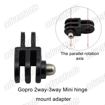 Universal Mini 2way-3way mount hinge adapter for gopro hero3/2 + AEE SD21/23/26 + RD31/RD32/RD36+more  sport DV(Parallel axis)