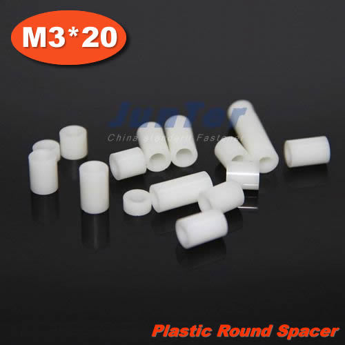 1000pcs/lot Plastic M3(ID) x 7(OD) x 20mm Length Tapped Round Standoff Spacer<br><br>Aliexpress