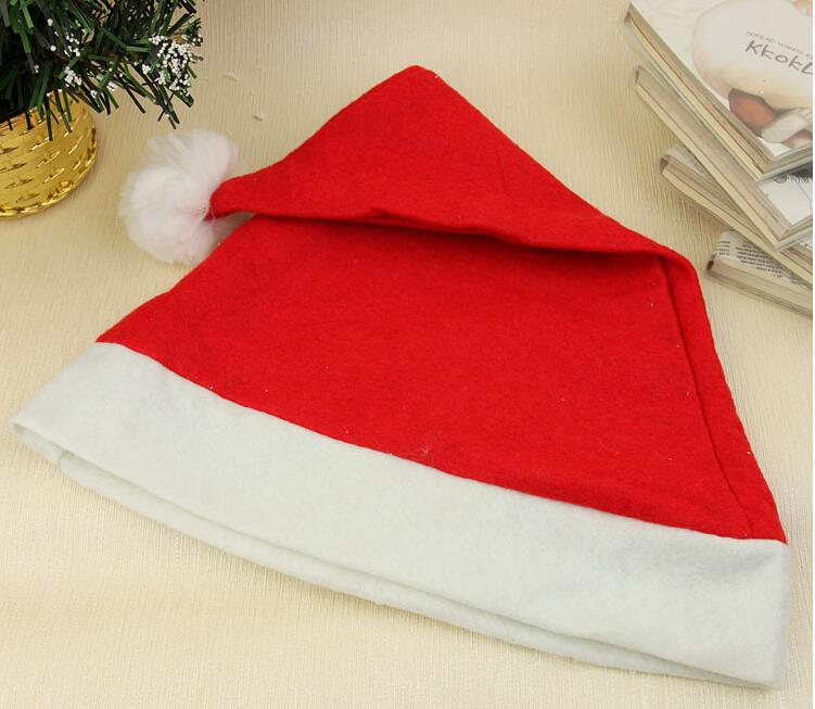 50pcs/lot Santa Claus Hat Chair Covers Dinner Chair Cap Sets For Christmas Xmas Decorations Home Party Holiday Cap(China (Mainland))