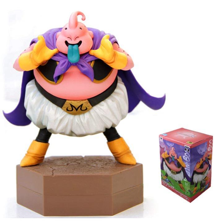 Dragon Ball Z Action Japanese Anime Dragonball Fat Majin Buu Son Goku Super Saiyan three Action Figure Toys 15cm PVC Model 0128(China (Mainland))