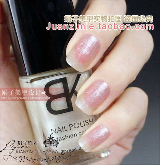 Bottle nail art casebottle bk nail polish oil 18ml pearl silveriness 87