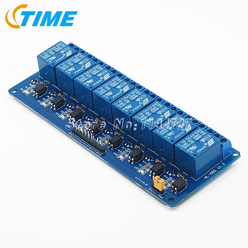 10PCS Blue 8 Channel Relay Module 5V Active Low Board for Arduino PIC AVR MCU DSP(China (Mainland))