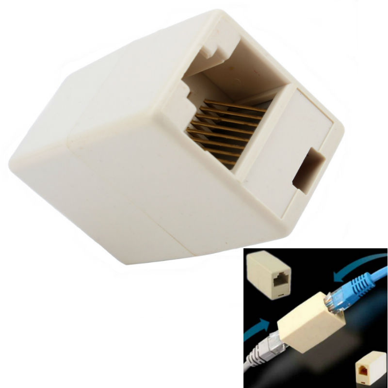 Ethernet Lan Cable Joiner Coupler Connector RJ45 CAT 5 5E Extender Plug(China (Mainland))