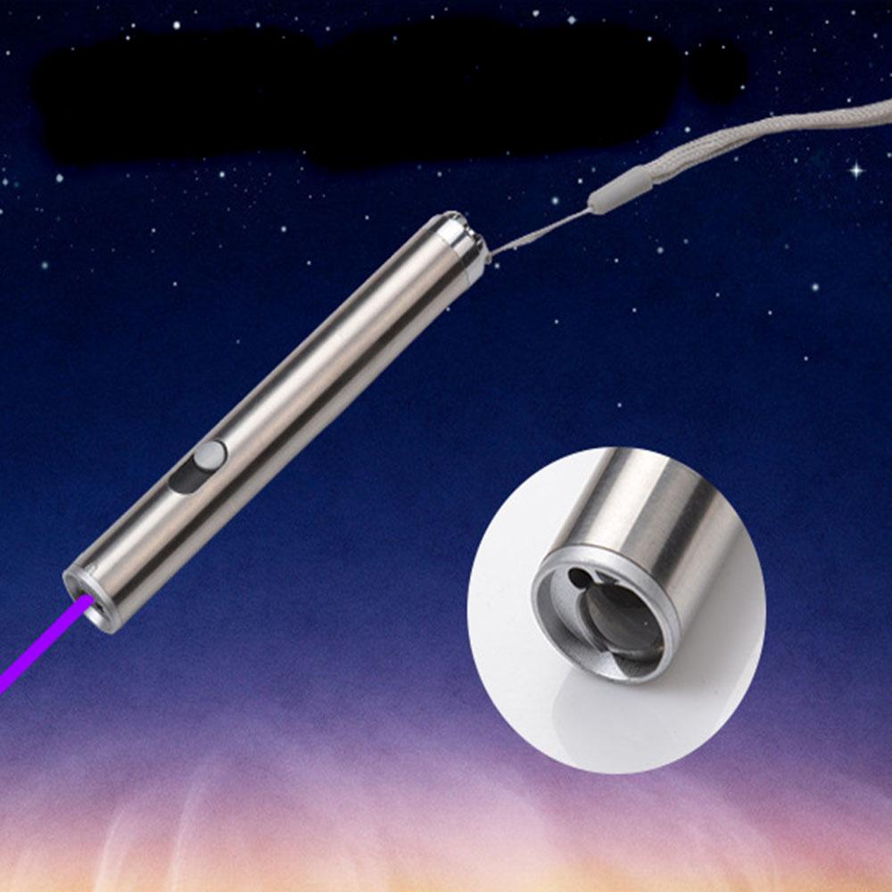 Multi Function Mini Flashlight :UV Light+Red laser+White Light 3 in1 Portable Flashlight Aluminium Alloy Led Key chain(China (Mainland))