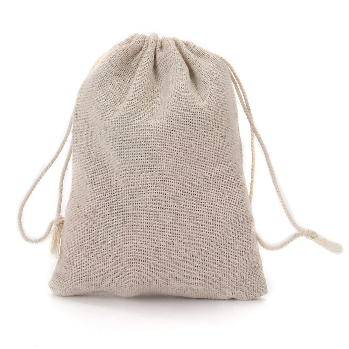 10pcs/bag Cotton Bag With Drawstrings Mini Linen Storage Bag Can Organize Sundries Small Eco Bags For Home(China (Mainland))