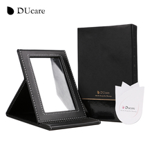 DUcare mini Tabletop Vanity Makeup Mirror Portable Folding Mirrors with Standing high quality free shipping(China (Mainland))