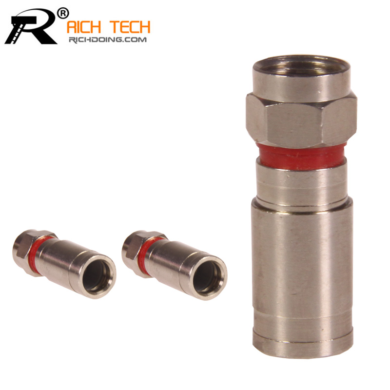 RG6 Weatherproof F Compression Connector RG-6 Compression RF COAXIAL Connector Adapter R connector 3pcs/lot(China (Mainland))