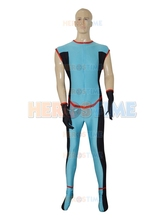 Custom Blue Superhero costume spandex halloween cosplay zentai suit hot sale  free shipping