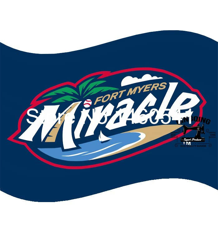 Fort Myers Miracle Flag 3ft x 5ft Polyester Minor League Baseball Florida State League FSL Banner 144* 96cm QingQing Flag(China (Mainland))