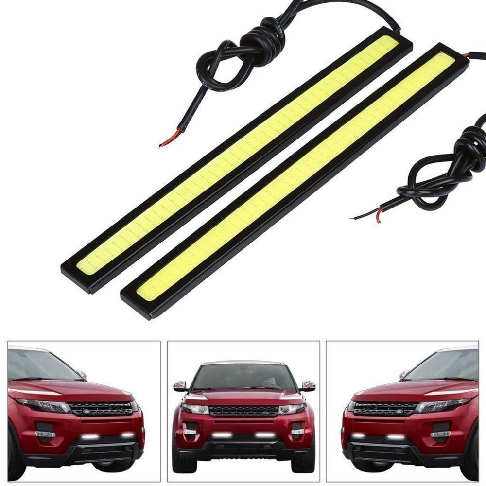 2pcs/lots Ultra Bright 18W 14cm Car styling Daytime Running light 100% Waterproof COB Day time Lights LED Car DRL Driving lamp(China (Mainland))