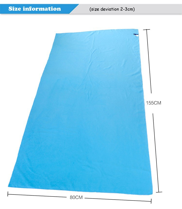 80cmx160cm ZR Microfiber Beach towel Fast Drying Compact Travel Sports Camping Swiming Beach Bath body Towel Sports(China (Mainland))