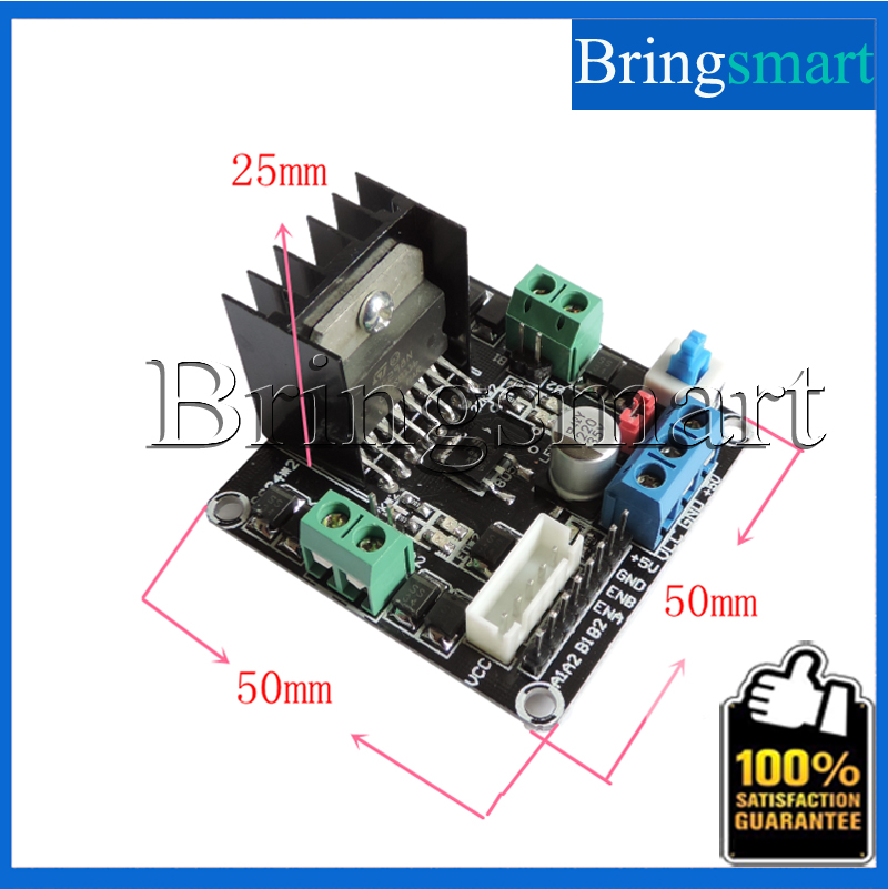 Wholesales One Stepper Or Double DC Motor Driving Module Toys Accessories L298N-1 Single Chip, Smart Toy Car Driver(China (Mainland))