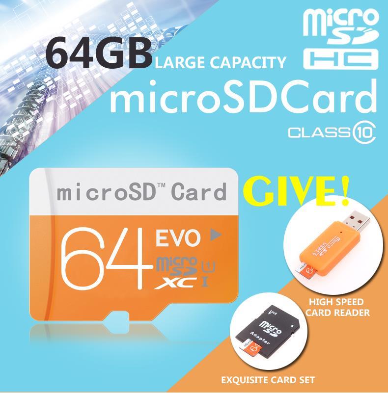 New sale micro sd card 32gb 64gb class10 memory card flash card 16gb 8gb micro sd free card reader + adapter free shipping(China (Mainland))