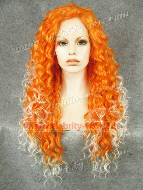 N18-3200/1001  Promotion   Freight Free   26inch/66cm  Multi-Color  Fashion Curly  Synthetic  Lace Front Wigs<br><br>Aliexpress
