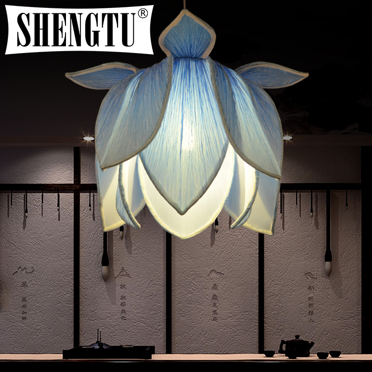 Modern new Chinese teahouse hotel clubs aisle pendant lamp Lotus Lantern restaurant lotus lamp antique living room lamps(China (Mainland))